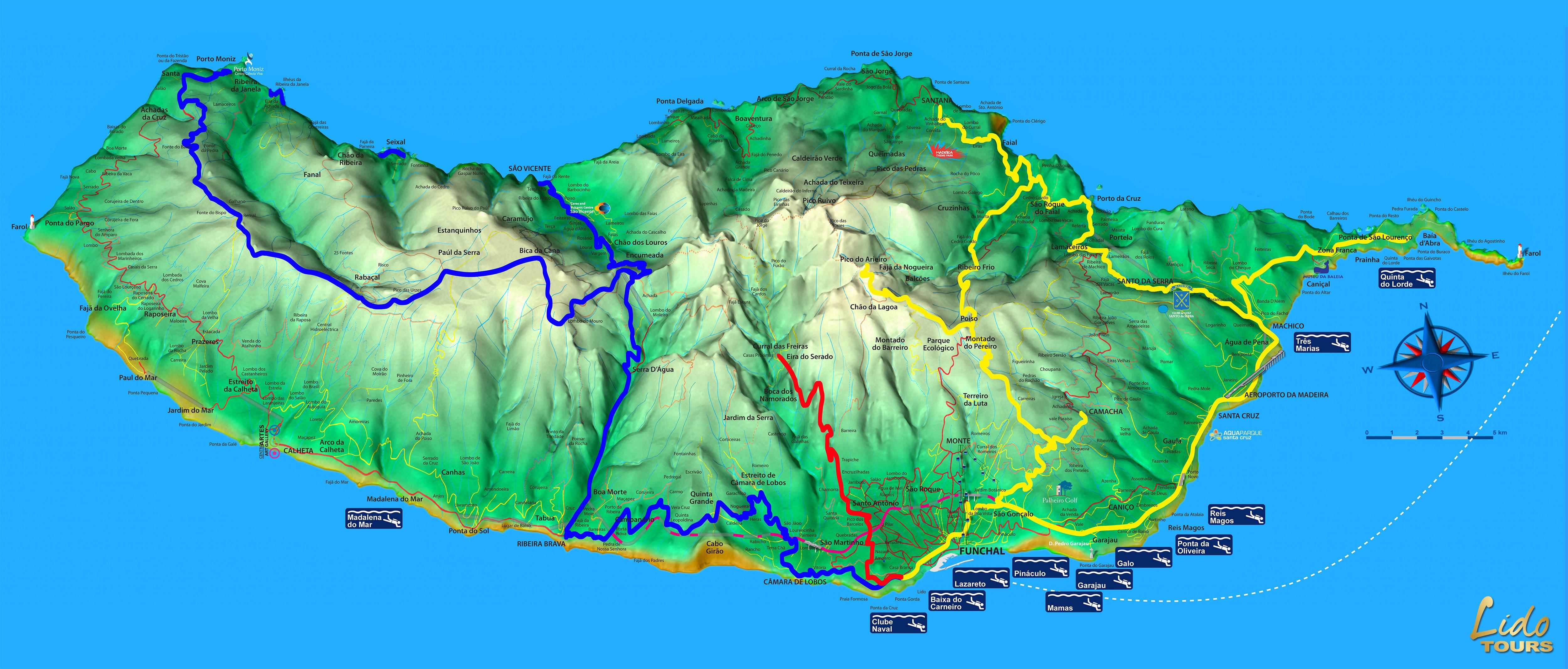 mapa de estradas da ilha da madeira Mapa De Estradas Da Madeira | thujamassages mapa de estradas da ilha da madeira
