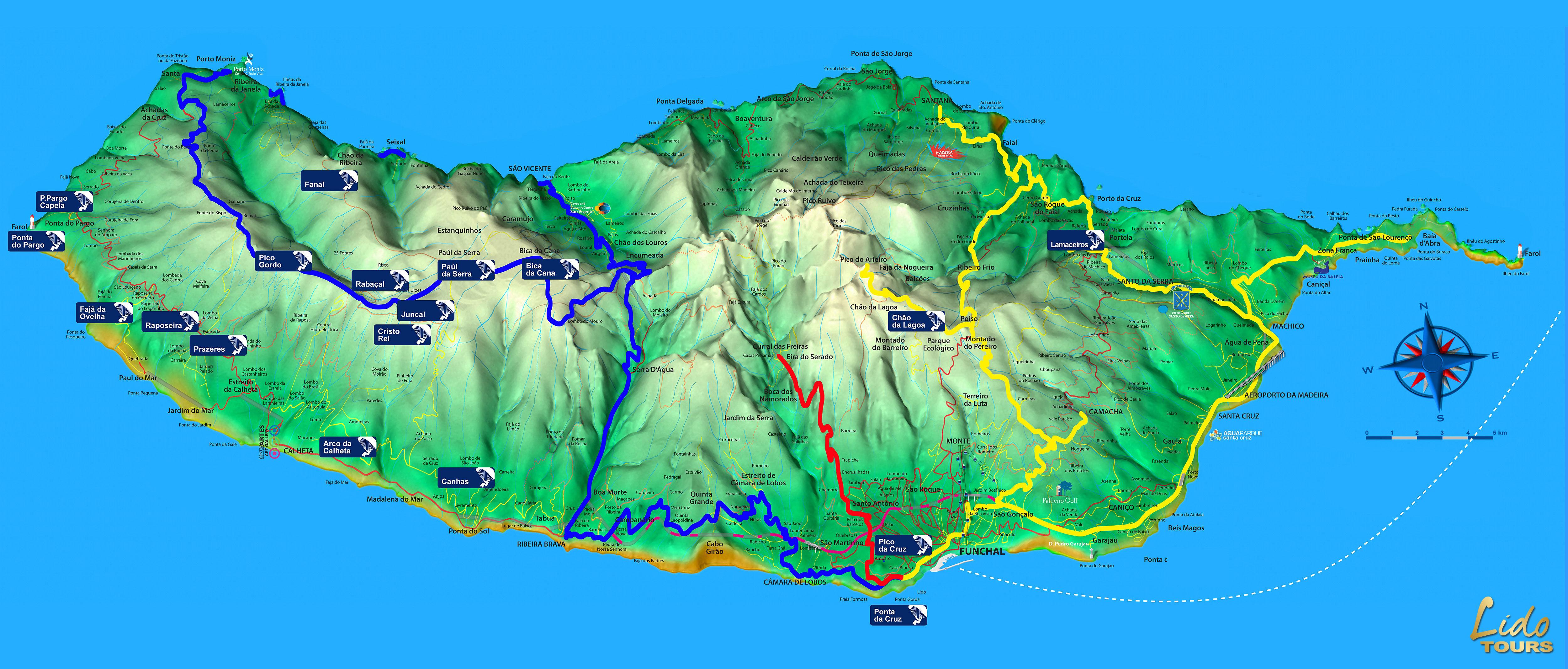 mapa das serras da madeira Madeira tours map and Funchal hotel map mapa das serras da madeira